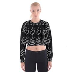 Bugs pattern Women s Cropped Sweatshirt