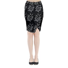 Bugs pattern Midi Wrap Pencil Skirt