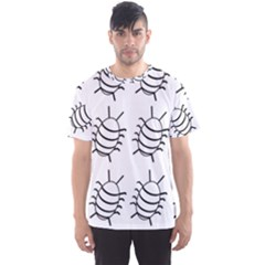 White bug pattern Men s Sport Mesh Tee