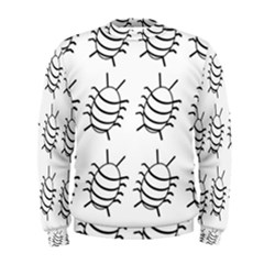 White bug pattern Men s Sweatshirt