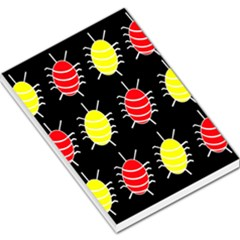Red and yellow bugs pattern Large Memo Pads