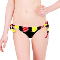 Red and yellow bugs pattern Bikini Bottom