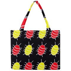 Red and yellow bugs pattern Mini Tote Bag