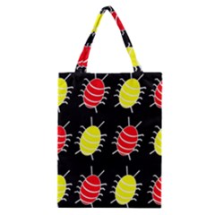 Red and yellow bugs pattern Classic Tote Bag