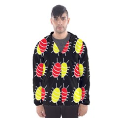 Red and yellow bugs pattern Hooded Wind Breaker (Men)