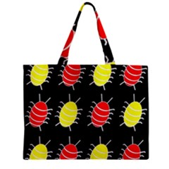 Red and yellow bugs pattern Zipper Mini Tote Bag