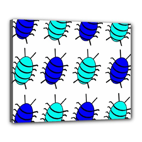 Blue bugs Canvas 20  x 16