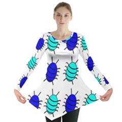 Blue Bugs Long Sleeve Tunic