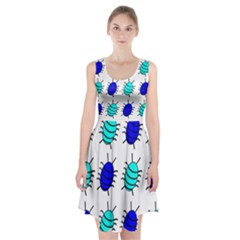 Blue bugs Racerback Midi Dress