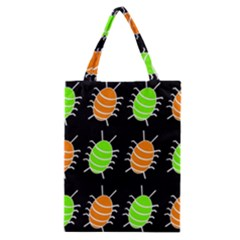 Green and orange bug pattern Classic Tote Bag