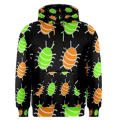 Green and orange bug pattern Men s Pullover Hoodie