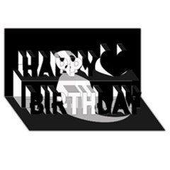 Ghost Happy Birthday 3D Greeting Card (8x4)
