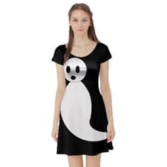 Ghost Short Sleeve Skater Dress