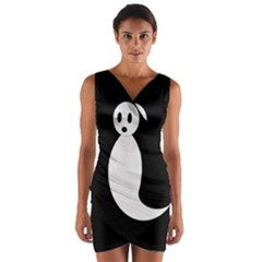 Ghost Wrap Front Bodycon Dress