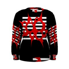 Red, black and white abstract design Women s Sweatshirt