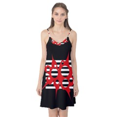 Red, black and white abstract design Camis Nightgown