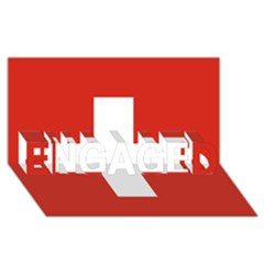 National Flag Of Switzerland ENGAGED 3D Greeting Card (8x4)
