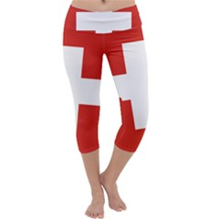 National Flag Of Switzerland Capri Yoga Leggings