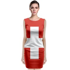 National Flag Of Switzerland Classic Sleeveless Midi Dress