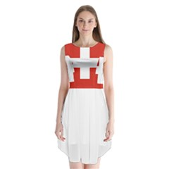 National Flag Of Switzerland Sleeveless Chiffon Dress