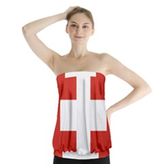 National Flag Of Switzerland Strapless Top