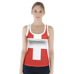 National Flag Of Switzerland Racer Back Sports Top
