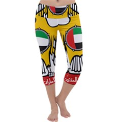 Emblem Of The United Arab Emirates Capri Yoga Leggings