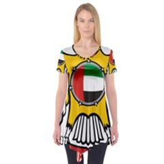 Emblem Of The United Arab Emirates Short Sleeve Tunic