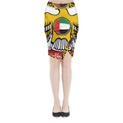 Emblem Of The United Arab Emirates Midi Wrap Pencil Skirt