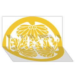 Tokugawa Family Crest PARTY 3D Greeting Card (8x4)