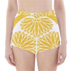 Tokugawa Family Crest High-Waisted Bikini Bottoms