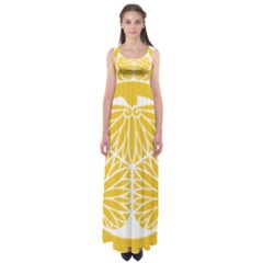 Tokugawa Family Crest Empire Waist Maxi Dress