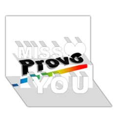 Flag Of Provo  Miss You 3d Greeting Card (7x5)