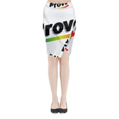Flag Of Provo  Midi Wrap Pencil Skirt