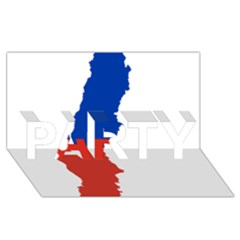 Flag Map Of Chile  Party 3d Greeting Card (8x4)