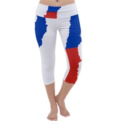 Flag Map Of Chile  Capri Yoga Leggings