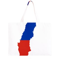 Flag Map Of Chile  Large Tote Bag