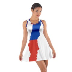 Flag Map Of Chile  Cotton Racerback Dress