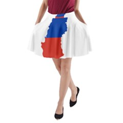 Flag Map Of Chile  A-Line Pocket Skirt