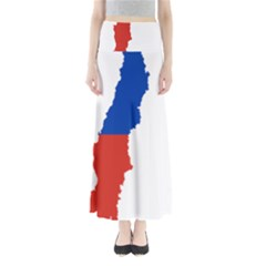 Flag Map Of Chile  Maxi Skirts