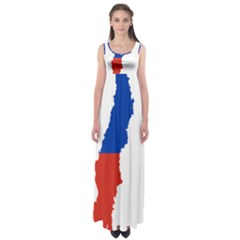 Flag Map Of Chile  Empire Waist Maxi Dress
