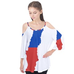 Flag Map Of Chile  Flutter Tees