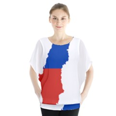 Flag Map Of Chile  Blouse