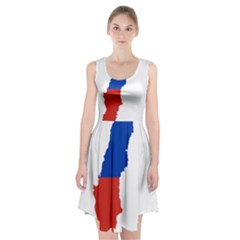 Flag Map Of Chile  Racerback Midi Dress