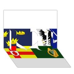Four Provinces Flag Of Ireland I Love You 3d Greeting Card (7x5)