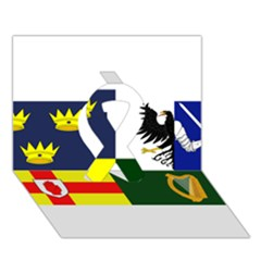 Four Provinces Flag Of Ireland Ribbon 3d Greeting Card (7x5)