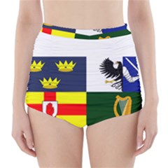 Four Provinces Flag Of Ireland High-Waisted Bikini Bottoms