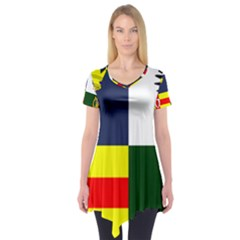 Four Provinces Flag Of Ireland Short Sleeve Tunic