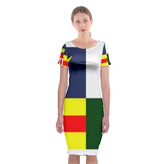 Four Provinces Flag Of Ireland Classic Short Sleeve Midi Dress