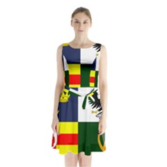 Four Provinces Flag Of Ireland Sleeveless Waist Tie Dress
